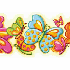 877148 Bubbly Butterflies Double Diecut Wallpaper Border  CK83011B