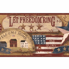 877286 Let Freedom Ring Patriotic Wallpaper Border
