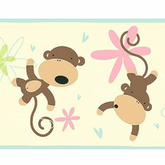 877351 Monkey Wallpaper Border