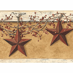 877390 Country Hanging Star Wallpaper Border HK4663bd