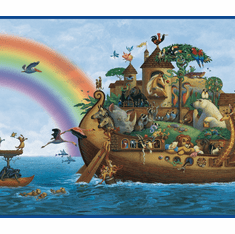 877559 Noah's Ark Wallpaper Border BYR92351b