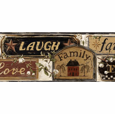 877586 Faith, Family, Friends Signs Wallpaper Border FFR65401b