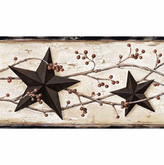 877587 Country Stars and Berries Wallpaper Border FFR65365b