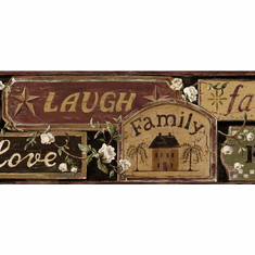 877588 Faith, Family Friends Signs Wallpaper Border FFR65402b