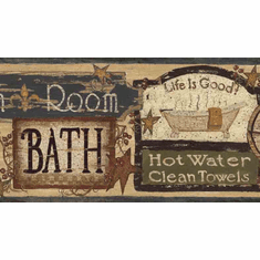 877597 Bathhouse Signs Wallpaper Border FFR65343b