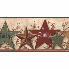 877676 Faith Family Friends Stars Wallpaper Border CB5505bd