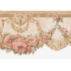 877706 Silk Rose Swag Wallpaper Border FDB02000