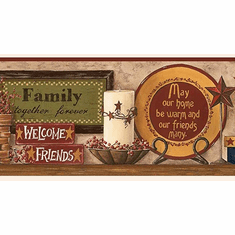 877801 Family Phrases Wallpaper Border CB5520bd