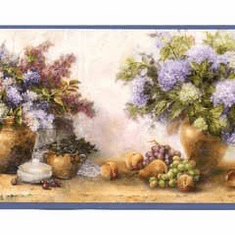 877827 Flowers and Grapes Wallpaper Border DW30211