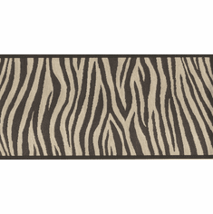 877856 Black and Brown Zebra Stripes Wallpaper Border