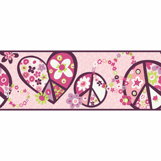 877872 Peace Sign Wallpaper Border PW3917b