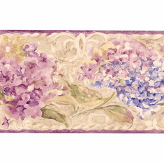 877921 Watercolor Floral Wallpaper Border  SI37133b