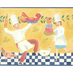 877944 Dancing Chefs Wallpaper Border TS106422b