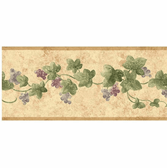 877954 Narrow Ivy Wallpaper Border SM8430b