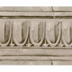 877971 Architectural Crown Moulding Wallpaper Border