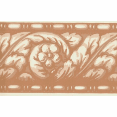 878007 Narrow Terracotta Wallpaper Border