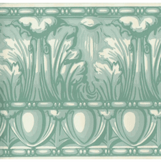 878015 Architectural Egg & Dart Wallpaper Border Aqua