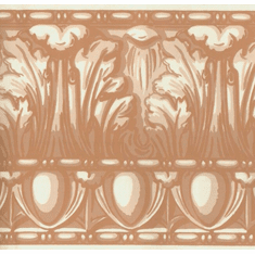 878017 Architectural Egg & Dart Wallpaper Border Terracotta
