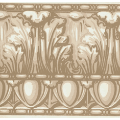 878018 Architectural Egg & Dart Wallpaper Border Browns