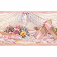 878068 Ballet Slippers Wallpaper Border GIR92092b BVB92092b