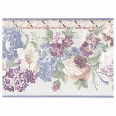 878125 Satin Floral Wallpaper Border 51306140