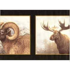 878143 Moose, Elk, Ram Wallpaper Border HB112111b
