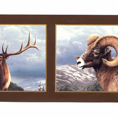 878144 Ram, Moose, Elk Wallpaper Border HB112113b