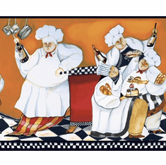 878160 Chef's A-Cookin' Wallpaper Border BG1680bd