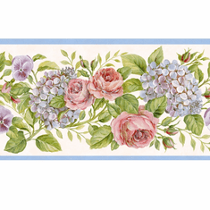 878171 Rose Garden Wallpaper Border GU92101B