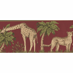 878184 Jungle Animals Wallpaper Border