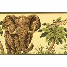 878227 Jungle Animals Wallpaper Border