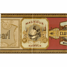 878292 Cigar Labels Wallpaper Border 685571
