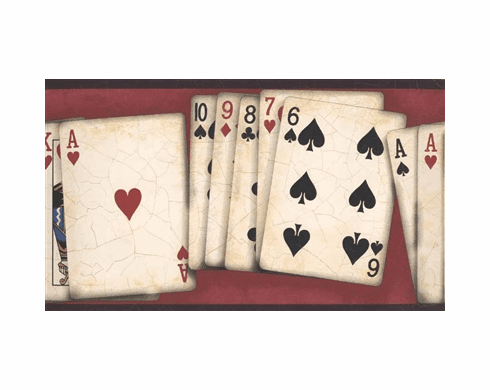 878296 Poker Playing Cards Wallpaper Border NW10001b
