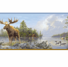 878317 Moose Lake Wallpaper Border