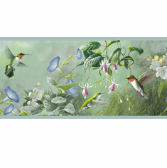 878320 Ruby Hummingbird Wallpaper Border