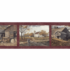 878338 Country Days On The Farm Wallpaper Border PUR44591b
