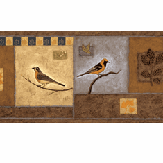 878361 Bungalow Birds Wallpaper Border LL50102b