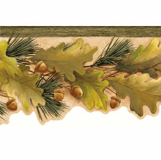 878362 Oak Leaves & Acorns Wallpaper Border LL50121b