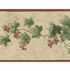 878379 Narrow Ivy Wallpaper Border SM8431b