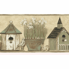 878452 Home Sweet Home Birdhouse Border PUR44561b