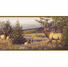 878461 Elk Mountain Wallpaper Border