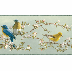 878465 Songbirds Wallpaper Border