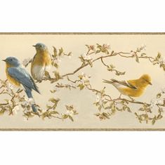 878466 Songbirds Wallpaper Border