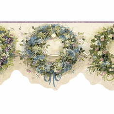 878512 Calico Wreaths Wallpaper Border FAM65073b