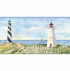 878535 Coastal Lighthouse Wallpaper Border CT46071b