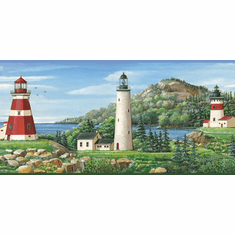 878536 Coastal Lighthouse Wallpaper Border CT46081b