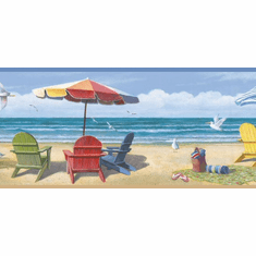 878538 Summer At The Beach Border Wallpaper Border CT46091b