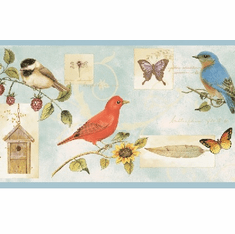 878539 Songbird Collage Wallpaper Border