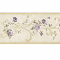 878540 Tearose Acanthus Wallpaper Border CKB77915b
