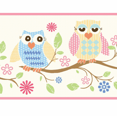 878544 Wise Owls Wallpaper Border